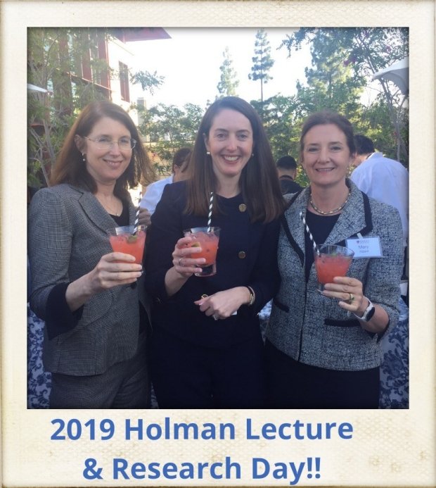 VP of Research Dr. Arden Morris, Holman Guest Lecturer Dr. Melina Kibbe, and Department Chair Dr. Mary Hawn at Holman Day.