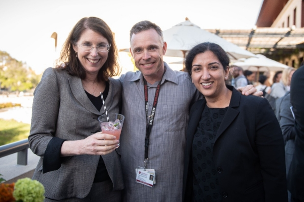 Drs. Arden Morris, Todd Wagner, and Shripa Arya at the Holman reception.