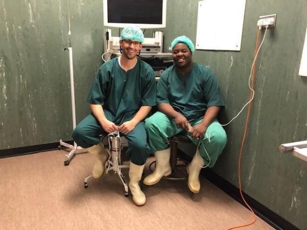 General Surgery Resident Dr. Josh Jaramillo during his rotation at the University of Zimbabwe