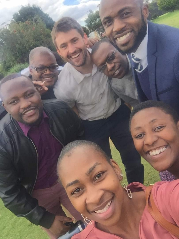 General Surgery Resident Dr. Josh Jaramillo with friends in Zimbabwe.