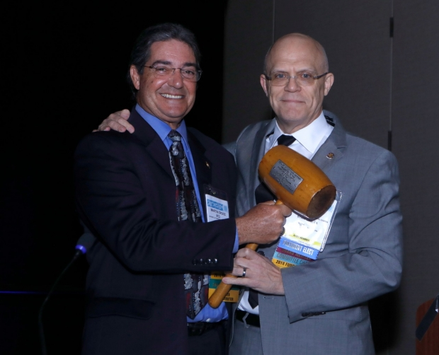 Dr. David Spain accepts the AAST ceremonial gavel