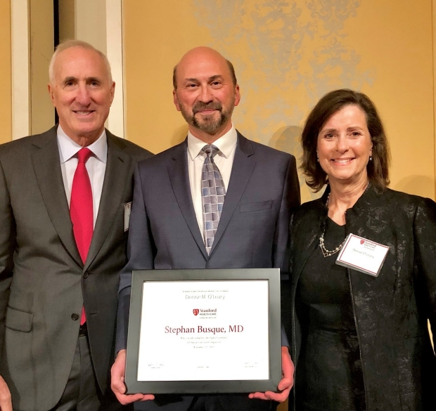 Transplant Surgery Dr. Stephan Busque Receives Denise O'Leary Award