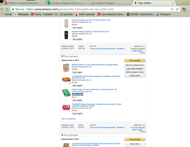 Amazon Order Screenshot